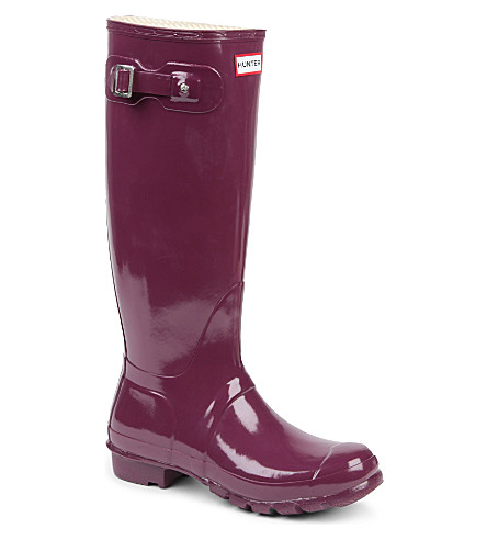 HUNTER Original Gloss wellies (Wine