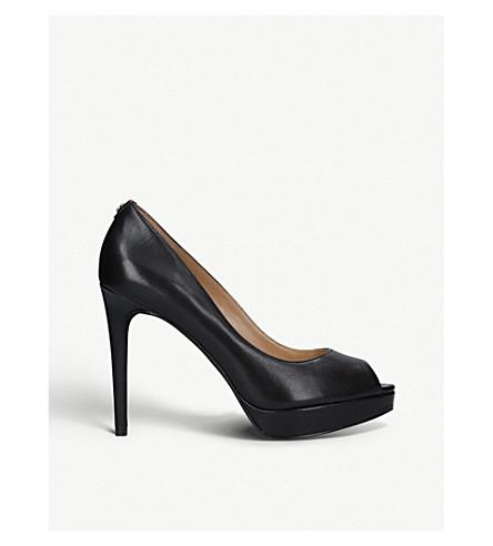 MICHAEL MICHAEL KORS Erika leather platform heels (Black