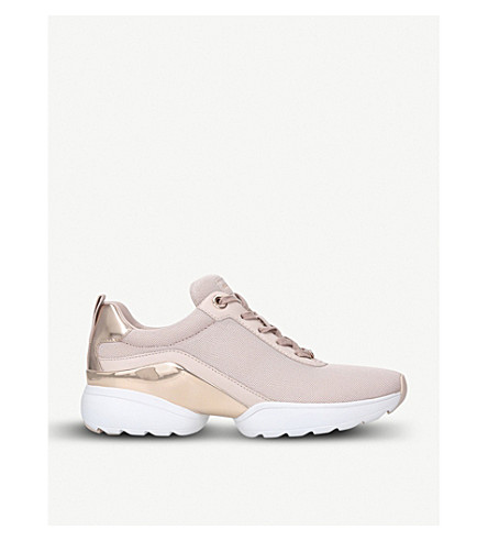 MICHAEL MICHAEL KORS Jada layered leather and mesh trainers (Pale+pink