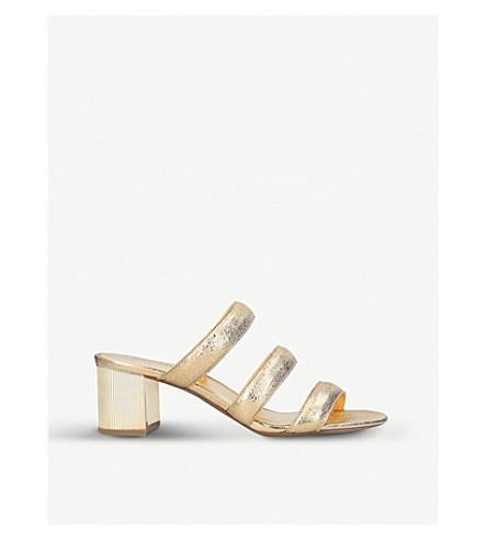 MICHAEL MICHAEL KORS Paloma Flex metallic-leather mules (Gold
