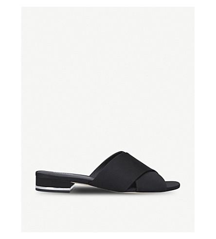 MICHAEL MICHAEL KORS Shelly criss-cross satin sandals (Black
