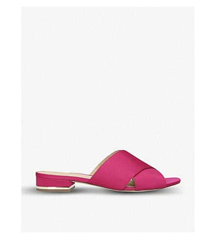 MICHAEL MICHAEL KORS Shelly cirss-cross satin sandals (Pink