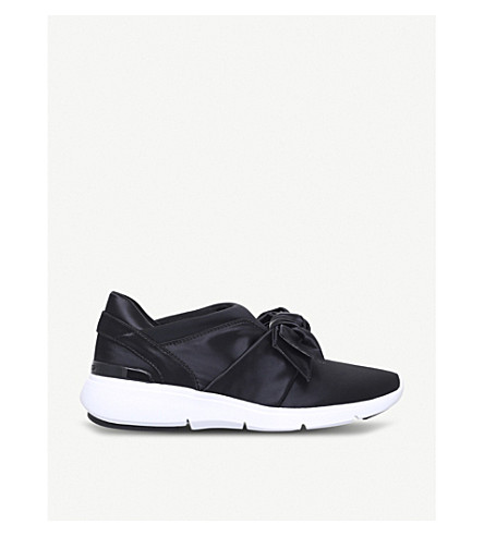 MICHAEL MICHAEL KORS Willa bow-detail satin trainers (Black