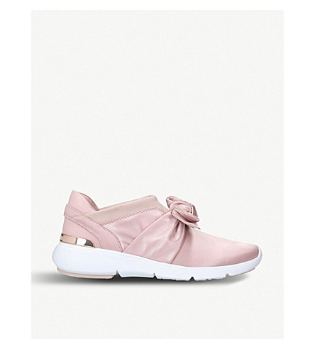 MICHAEL MICHAEL KORS Willa bow leather trainers (Pale+pink