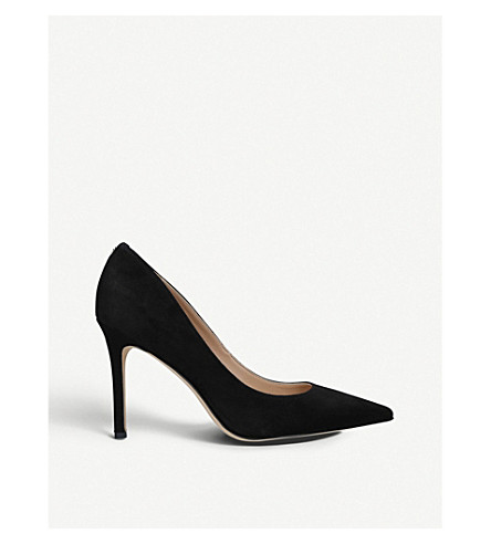 SAM EDELMAN Hazel suede court shoes (Black