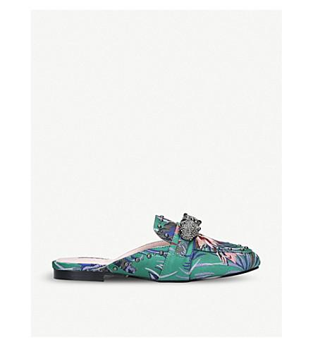 CARVELA Luscious floral-print mules (Green+comb