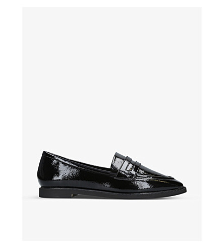 KG KURT GEIGER MOBY FAUX-PATENT LEATHER LOAFERS