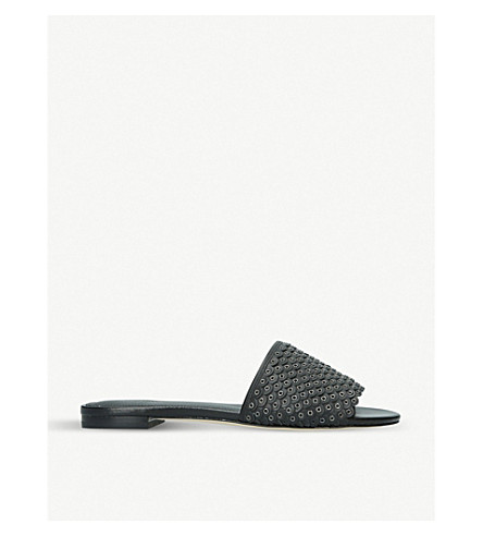 MICHAEL MICHAEL KORS Jessie leather slides (Black