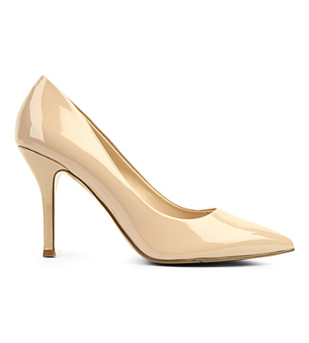 NINE WEST Flax patent-leather courts (Nude