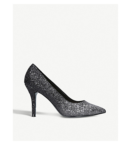 NINE WEST Flax glitter-ombré heeled courts (Silver