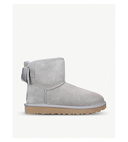 UGG - Satin Bow Mini suede boots  23bc1b9ed