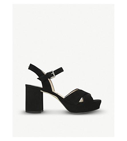 SAM EDELMAN Jolene suede platform sandals (Black