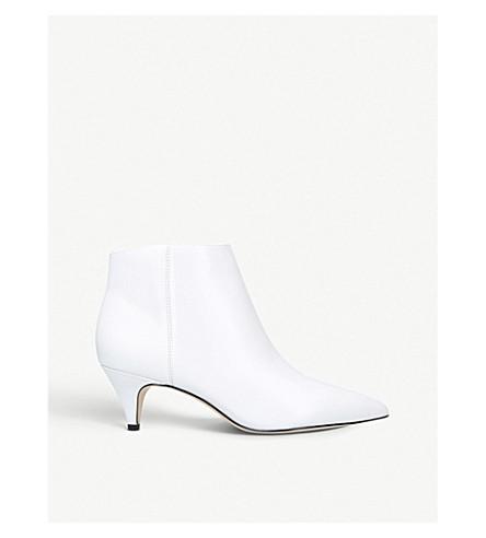 SAM EDELMAN Kinzey leather ankle boots (White
