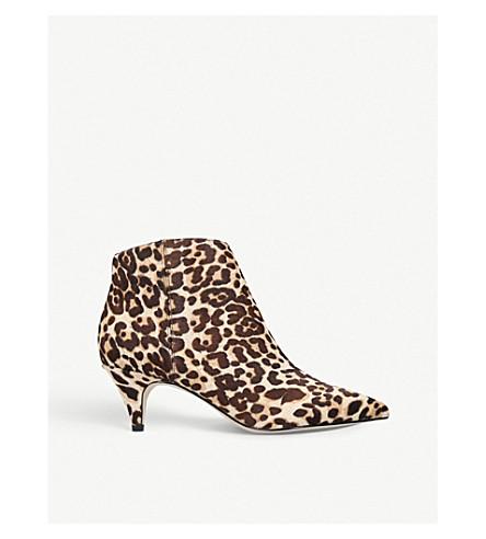 SAM EDELMAN Kinzey leopard-print pony ankle boots (Beige oth