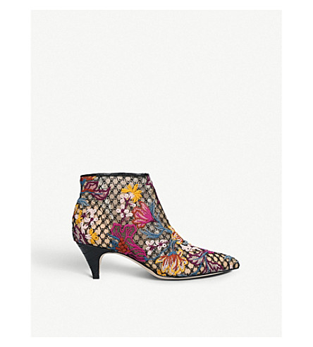 SAM EDELMAN Kinzey embroidered-lace ankle boots (Other