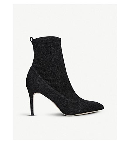 SAM EDELMAN Olson metallic-knit sock boots (Black