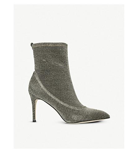 SAM EDELMAN Olson metallic-knit sock boots (Gold
