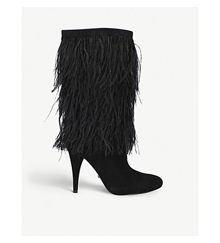 Asha feathered suede boots(2483700209)