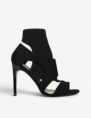 eeeaa9baa4d KG KURT GEIGER - Horatio cutout leather heeled sandals