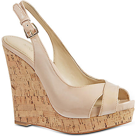 NINE WEST Laffnplay3 wedge sandals (Nude