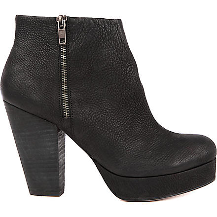 KG KURT GEIGER Vera pebbled leather ankle boots (Black