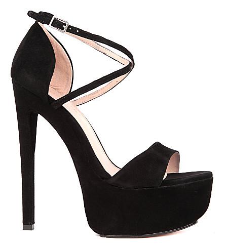 KG KURT GEIGER Nanette suede sandals (Black