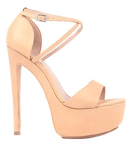 KG KURT GEIGER Nanette suede sandals (Nude