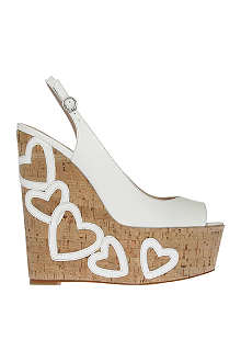 KG BY KURT GEIGER Nuovo leather wedges