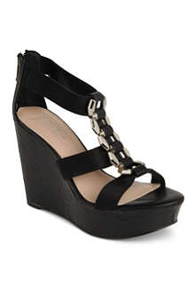 CARVELA Keira grosgrain wedge sandals