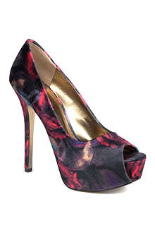 NINE WEST Cinched2 printed peep-toe courts