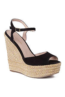 KG BY KURT GEIGER Nancy suede wedge sandals