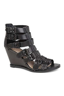 KG BY KURT GEIGER Mandy leather wedge sandals