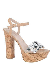 KG BY KURT GEIGER Nala cork platform sandals