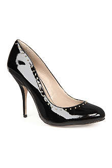 KG BY KURT GEIGER Bella patent-leather studded courts