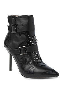 KG BY KURT GEIGER Wyatt leather ankle boots