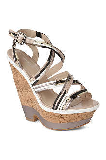 CARVELA Kool tri-tone wedge sandals