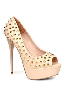 KG BY KURT GEIGER Eris faux-leather studded courts