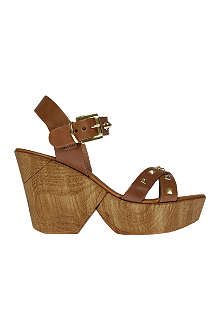 CARVELA Karla leather wedge sandals