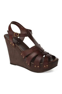 CARVELA Kacie leather wedge sandals