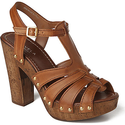 CARVELA Kimberly leather platfrom sandals (Tan