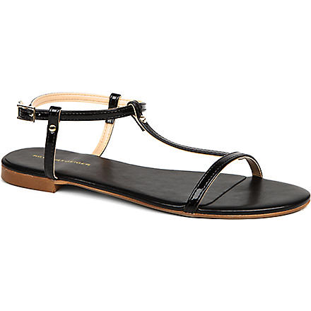 KG KURT GEIGER Match faux-leather sandals (Black