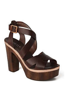 CARVELA Kathleen leather platfrom sandals