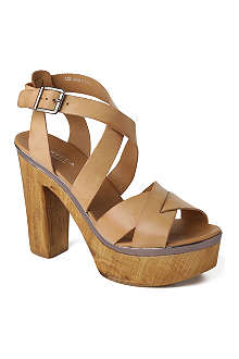 CARVELA Kathleen leather platform sandals