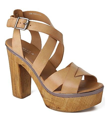 CARVELA Kathleen leather platform sandals (Camel
