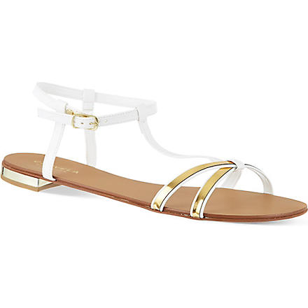 CARVELA Kay cross strap sandals (White