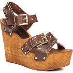 KG BY KURT GEIGER Nickle leather wedge sandals