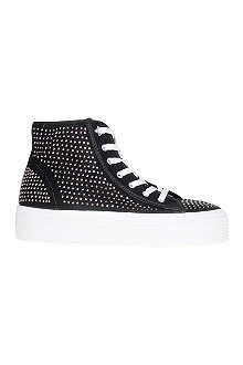 KG BY KURT GEIGER Lennie studded fabric flatform trainers