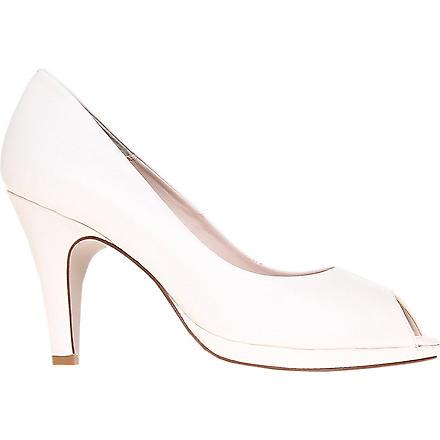 CARVELA Assist leather peep-toe courts (White