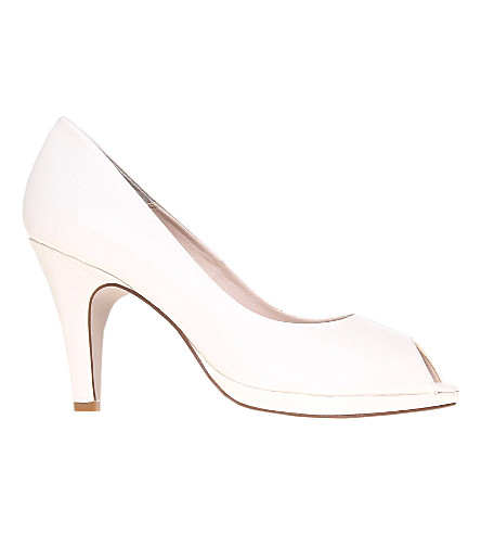 CARVELA Assist leather peep-toe courts (White