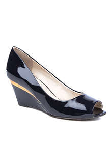 NINE WEST Shockmode3 patent leather wedge courts